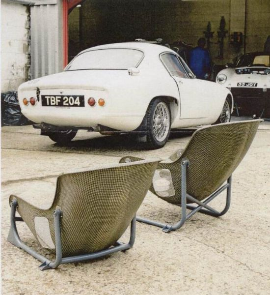 W1K seats about to be fitted to a Lotus Elan