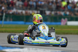 2014 World KF Championship - 1st Lando Norris with a Tillett T11t seat in his Alonso chassis