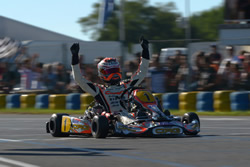 2013 World KZ Championship - 1st Max Verstappen with a Tillett T11t seat in his CRG chassis.