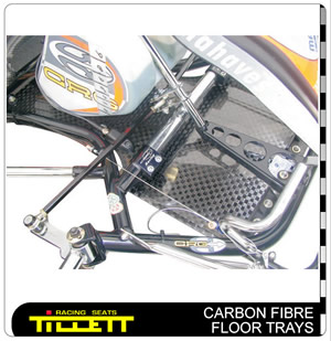 Carbon Racing Floor Tray - Close Up