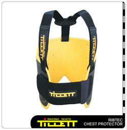 The Ribtec complete with the optional harness straps