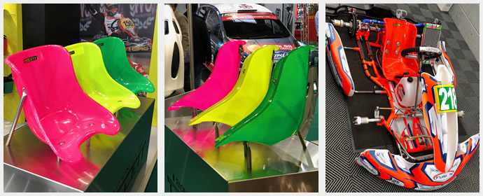 Neon Kart seats at the AutoShow